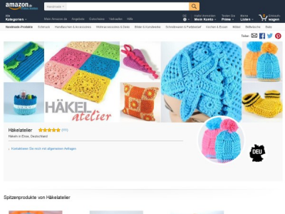 Häkelatelier bei Handmade at amazon