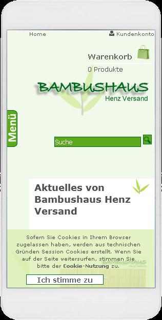 Bambushaus Smartphone