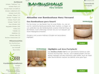 Bambushaus Henz Versand
