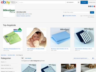 Mikrofaser-Aktiv bei Ebay