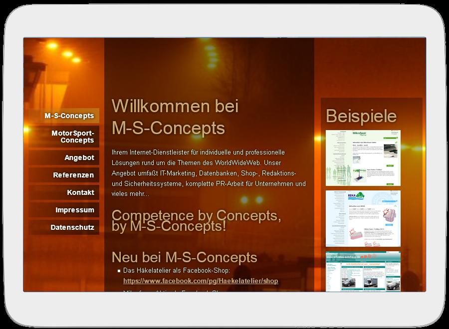 M-S-Concepts auf Tablet