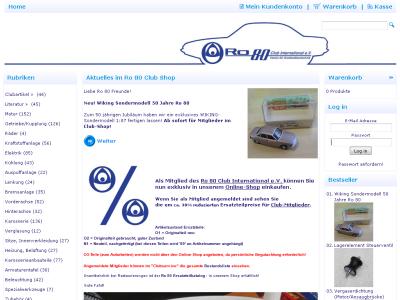 NSU Ro 80 Club International e.V. Webshop
